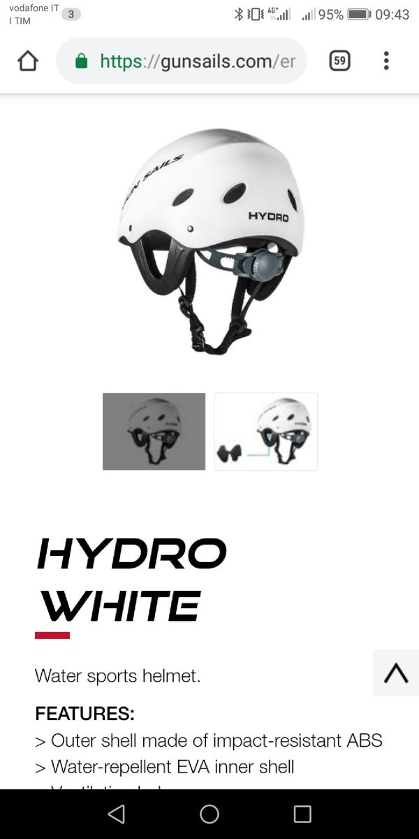 Gun Sails - Casco Windsurf, Kite, Foil Hydro White