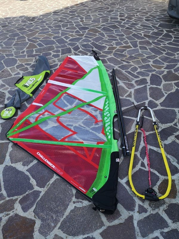 Challenger Sails - Rig 3.1 prokids completo vela albero e boma