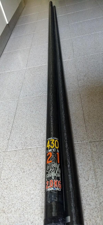 Tribord - Albero 430 SDM  - 45% carbonio -   2 Kg.